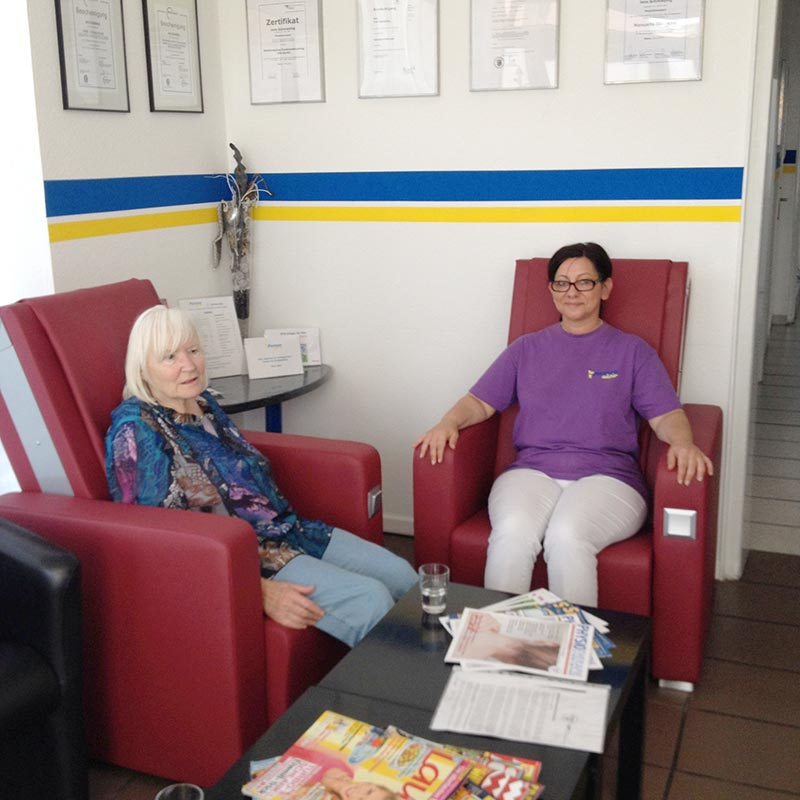 Vitalfit Massageselle Primera in der Physio Praxis Schmieding